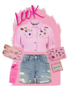 """Going Pink, Going Wild"" by collettechoquette ❤ liked on Polyvore featuring NYX, River Island, Moschino and Kusmi Tea"