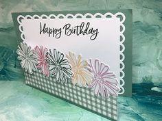 Teresa's Creative Cards: Dutch Door fold meets Color & Contour stamp set Color Contour, Dutch Door, Creative Cards, Pansies, Stampin Up, Happy Birthday, Frame, Pink, Happy Brithday