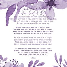 wedding poem - our weird and wonderful life - wedding poetry by Ms Moem Wedding Readings Unique, Romantic Wedding Vows, Wedding Vows Examples, Wedding Ceremony Readings, Wedding Poems, Wedding Ceremonies, Wedding Tips, Wedding Reception, Most Beautiful Love Poems