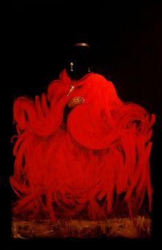 """""""Cholita de rojo No. 3"""".  Acrílico sobre lienzo. 2012"""