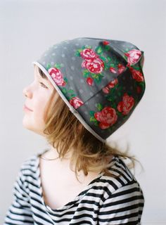New Spring  Girl hat  greay oversized children hat by PatkasBerlin, $10.00