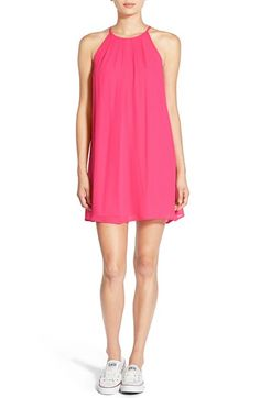 Lush Pleat Detail Chiffon Trapeze Dress available at #Nordstrom