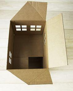 Cat house using cardboard   Ideas For PET Lovers   Pinterest   Cat ...