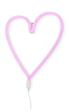 LED-Wandleuchte Herz in pink