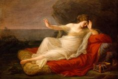 Ariadne Abandoned by Theseus on Naxos: 1774 by Angelica Kauffmann (Museum of Fine Arts, Houston, TX) - Neo-Classicism