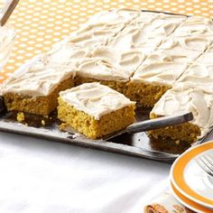 Pumpkin Bars with Browned Butter Frosting Recipe from Taste of Home -- shared by Mary Wilhelm of Sparta, Wisconsin