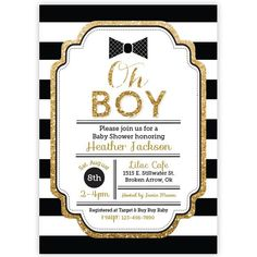 Bow tie baby shower invitations printable navy blue silver baby oh boy baby shower invitation bowtie invitaiton boy baby shower invitaiton filmwisefo