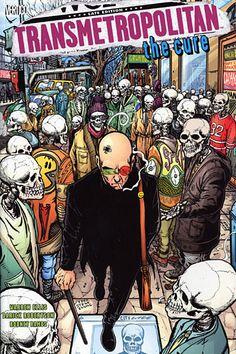 TRANSMETROPOLITAN: The Cure comic poster at skullspiration.com