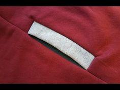 How to sew a POCKET inTROUSER in SWEATSHIRT. Jak uszyć kieszeń w szwie bocznym do bluzy, spodni - YouTube