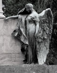 Every human both fears and is fascinated with death. Cemetery Angels, Cemetery Statues, Cemetery Art, Cemetery Monuments, Angels Among Us, Angels And Demons, Old Cemeteries, Graveyards, Angel Art