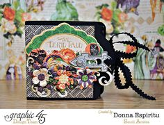 How to Make an Eerie Tale Mini-Album by Donna #graphic45 #tutorials