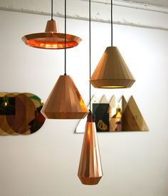 At the TENT London exhibition in east London, Dutch Designer David Derksen exhibited a collection of multi-faceted Copper Lights made fro...