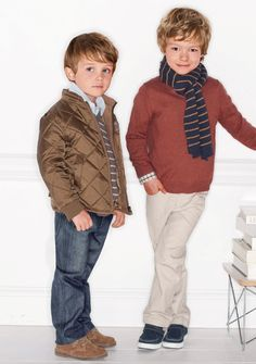 Is it the clothes that make this photo so beautiful, or those boys' floppy hair? Future Ivy League heart breakers.