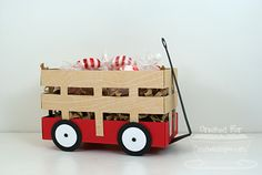 Wagon Treat Holder tutorial. Paper Pursuits: Wagon Template Tutorial