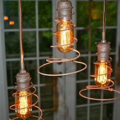 Bed Springs Repurposed | Bed Spring Lights