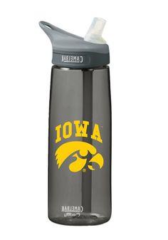Iowa Hawkeyes- Hawkeyes Water Bottle http://www.rallyhouse.com/iowa-hawkeyes-charcoal-camelbak-water-bottle-1646834?utm_source=pinterest&utm_medium=social&utm_campaign=Pinterest-IowaHawkeyes $22.99