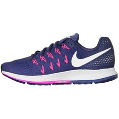 Nike Women Air Zoom Pegasus 33 Mesh Running (2,965 EGP) ❤ liked on Polyvore featuring shoes, athletic shoes, purple, nike footwear, mesh shoes, purple athletic shoes, purple shoes and nike