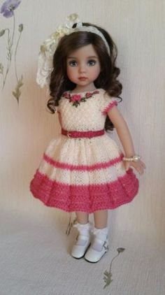 "The-dress-for-dolls-13""-Dianna-Effner-Little-Darling-Hand-made"