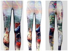 Beauty And the Beast Leggings lotusleggings