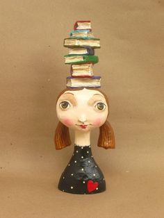 Paper Mache Crafts, Paper Mache Sculpture, Paperclay, Clay Dolls, Clay Art, Art Forms, Ceramic Art, Paper Dolls, Paper Art