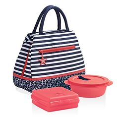 The Hamptons Lunch Bag Ready for some coastal cruisin�? You don�t have to summer in the Hamptons to enjoy a relaxed, coastal vibe. Take a seaside break anytime with this nautical  www.jamielackey.my.tupperware.com Availalbe 4/25