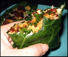 Collard Green Burrito ooh collards would make better wraps than kale! Clean Eating Recipes, Healthy Eating, Cooking Recipes, Vegetarian Recipes, Healthy Recipes, Healthy Foods, Collard Greens, Sans Gluten, Gluten Free