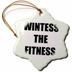 3dRose Witness THE Fitness, Snowflake Ornament, Porcelain, 3-inch