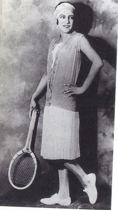 1925 - Tennis champion Suzanne Lenglen in her Jean Patou outfit