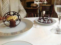 Epicure Photo: chocolate artistic gold dessert in globe of chocolate Purple Desserts, Gold Dessert, Chocolate Pictures, Paris Pictures, Trip Advisor, Globe, Artist, Food, Speech Balloon