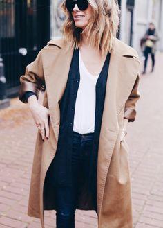 layering, grey cardigan, max mara camel coat