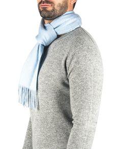 Kaschmir Schal washed hellblau front Winter Hats, Fashion, Light Blue, Cashmere, Scarves, Moda, Fashion Styles, Fasion