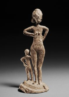 HALSTATT LEAD VOTIVE OF A MOTHER AND CHILD, ca. 750-500 BC
