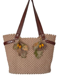 Handbagmacrame handmade fashion bag by BagsMagicKnots on Etsy, $140.00