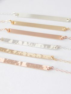 Skinny Horizontal Bar Layering Necklace // silver please!!!