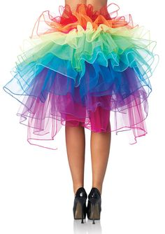 In case i get to be a shoe fairy, Fluffy Rave Tutu Rave wear Rainbow Ball Gown Dress Skirt. $35.00, via Etsy.