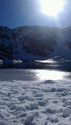 Somiedo lake in Asturias Spain