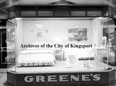 Window display for W.B. Greene Company. The store was located at 115 East Center Street.