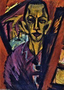 autoportrait - (Ernst Ludwig Kirchner)