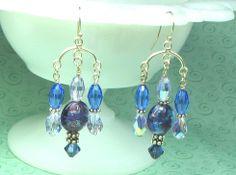 Chandelier Swarovski crystal earrings light by earringsbylulu, $20.00