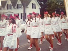 I'm in Gloucester Ma girl's Drill team. 1973 Marching in Gloucester's 350th. parade..