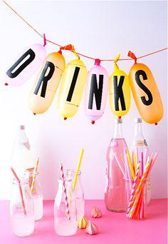 Three Ways: Sticker Letter Party Ideas | Oh Happy Day! | Bloglovin'