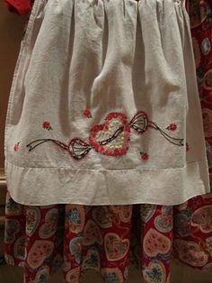 Vintage pillowcase made into apron.