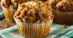 Overripe bananas may flaunt a less-than-appetizing appearance, but they're your ticket to mouthwateringly-moist baked goods like banana nut muffins. Peanut Butter Muffins, Banana Nut Muffins, Baked Banana, Cake Aux Fruits, Whole Wheat Muffins, Petit Cake, Baking Muffins, Muffin Recipes, Fun Recipes