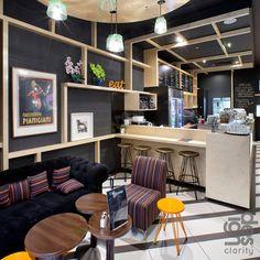 Stock coffee cafeterias modernas dise o de cafeter a y for Cafeterias modernas