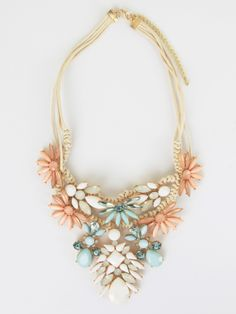 Altar'd State Casual Cords Floral Necklace