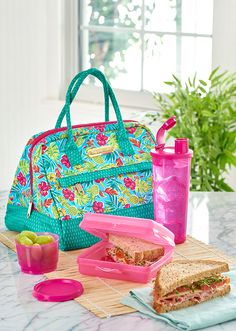 Tropical Glamour Lunch Set. Make convenience food a thing of the past. Join the hottest trend in food and pack a healthy, homemade meal in this stylish set.