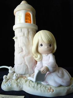 Precious Moments Porcelain Lighted Figure Jesus Is My Lighthouse 487945 It Works