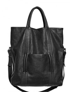 Maison Margiela | Black Textured Leather Tote Bag for Men | Lyst