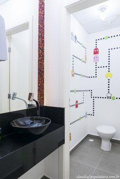 WC masculino - Projeto Corporativo Empresa: Going 2 Mobile  Autora do Projeto: Arq Cláudia F Ferreira Local: Votorantim SP Data: 2015 Foto: Rui Antunes  www.claudiafarquitetura.com.br