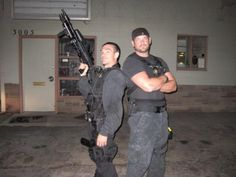 Duane Lee and Leland Chapman. Id like to be in the middle of that!